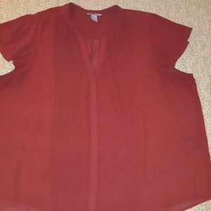 H&M Woman's Terracotta Colored Blouse, Size 24